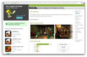 La app de The legend of Zelda de Android es falsa