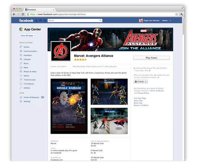 Facebook presenta un 'App Center' para aunar todas las aplicaciones sociales