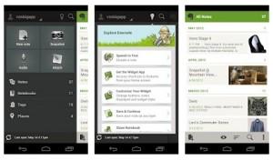 Evernote se actualiza para Android y se pone guapa