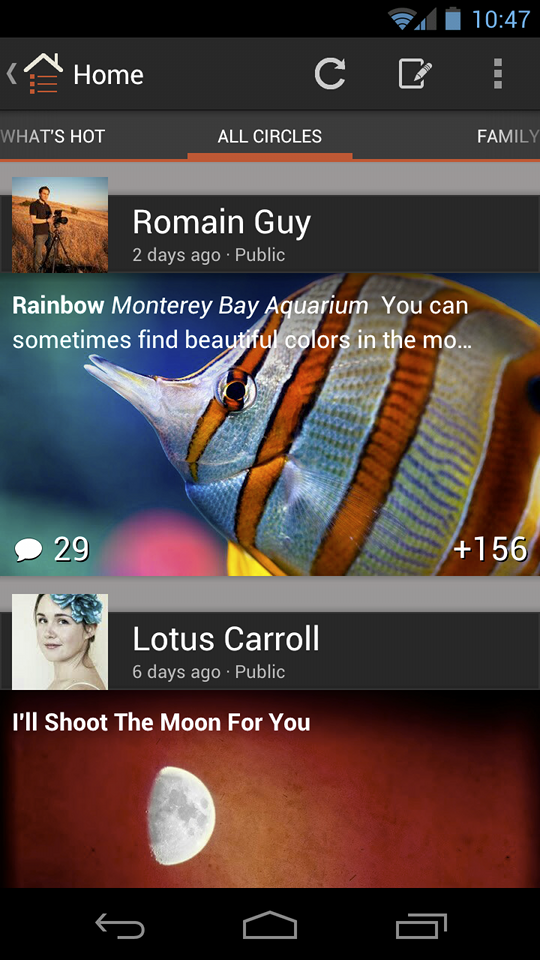 Google + para Android se actualiza, permitiendo las quedadas en grupo desde cualquier parte