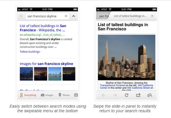 Google Search para iPhone agiliza sus búsquedas y cambia de cara