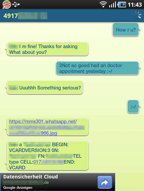 Todas las conversaciones de WhatsApp a través de WiFi pueden ser interceptadas