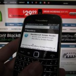 BlackBerry Screen Reader, una aplicación guía para invidentes