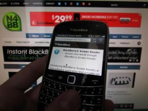 BlackBerry Screen Reader, una aplicación guía para invidentes