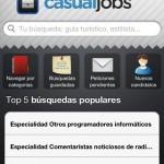 Encuentra trabajo desde tu smartphone con casualJobs