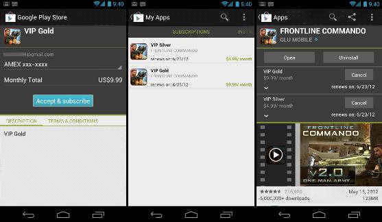 Google ya permite la modalidad de suscripción en las aplicaciones Android