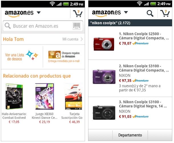 Amazon.es introduce su aplicación para Android