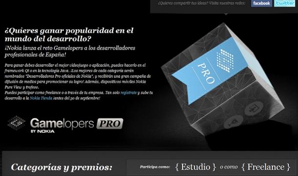 Gamelopers Pro: Crea el mejor videojuego o aplicación y gánate el favor de Nokia