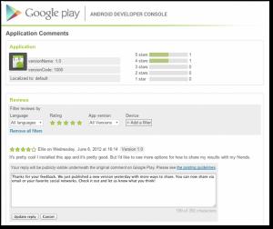 Los desarrolladores de apps para Android podrán responder comentarios en Google Play
