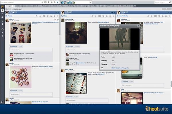 Hootsuite se conecta con Instagram, SlideShare, edocr y Zuum