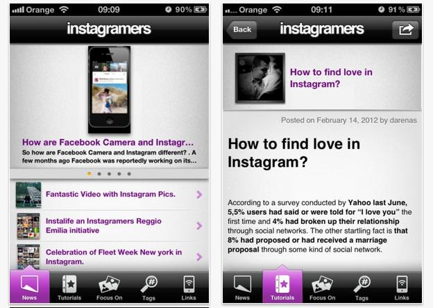 Instagramers, de comunidad de amantes de Instagram a aplicación para iPhone