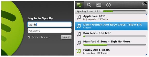 Spotify llega a casi todas las BlackBerry