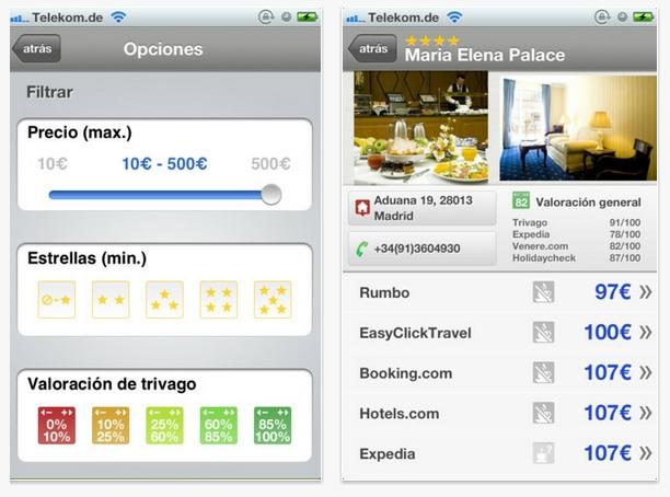 Trivago actualiza su aplicación para iPhone