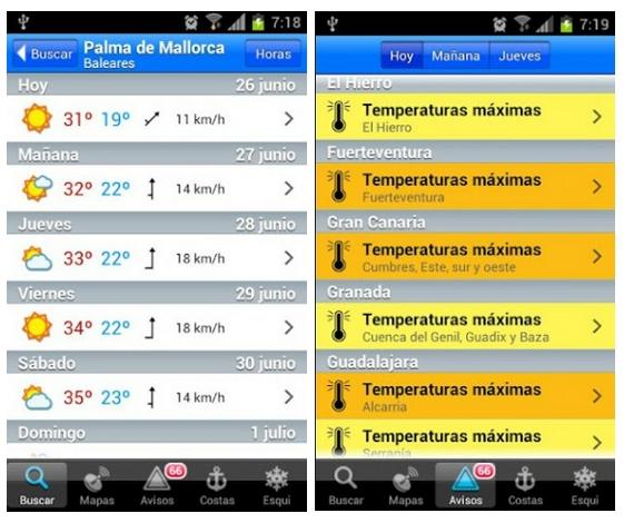 Eltiempo.es se convierte en una app para Android