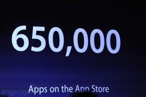 La App Store supera las 650.000 aplicaciones