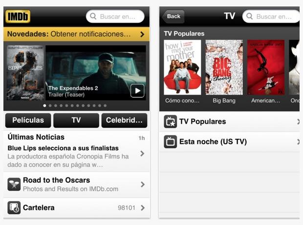 La aplicación de la IMDb supera los 40 millones de descargas e incorpora check-ins