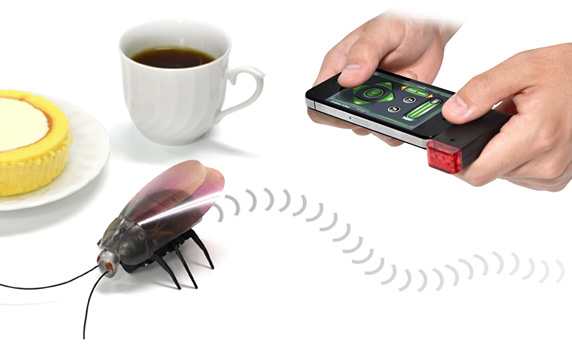 Cucarachas teledirigidas controladas por una aplicación de iPhone