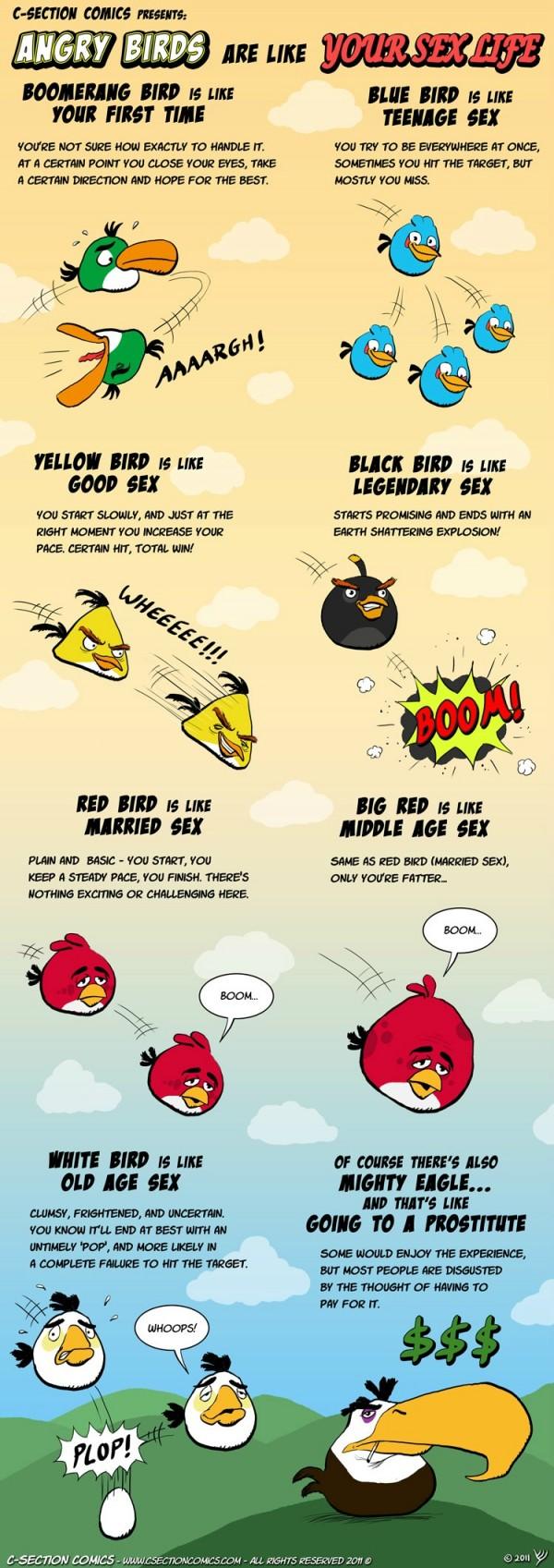 Cómic: Cómo se parece tu vida sexual a los Angry Birds
