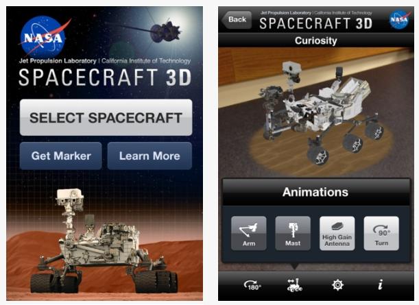 Viaja al espacio con Spacecraft 3D, la app de la NASA para probar naves espaciales robóticas