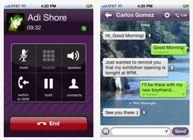 Viber lanza su versión 2.2 para Android e iPhone e incluye chat en grupo