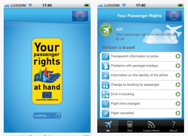 Conoce tus derechos como viajero gracias a una aplicación de la UE