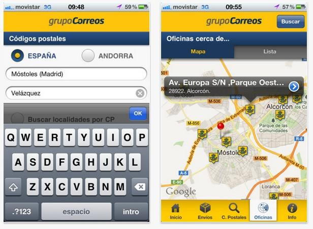 Busca oficinas y códigos postales con Correos Info 2.0
