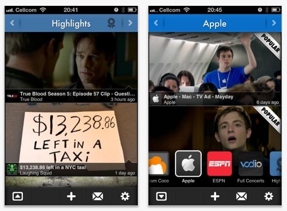 Vodio, el Flipboard de los vídeos, llega al iPhone