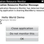 Maximiza el rendimiento de la batería de tu BlackBerry con Application Resource Monitor
