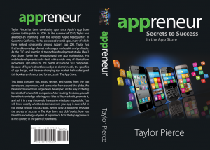 Regalamos 4 ejemplares de 'Appreneur- Secrets to Success in the App Store'