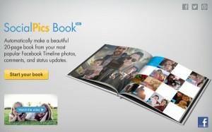 SocialPics crea un álbum de fotos impreso con tus imágenes de Facebook