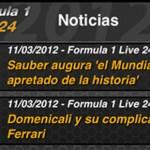Súmate a la 'Alonsomanía' con F1 2012 Live 24