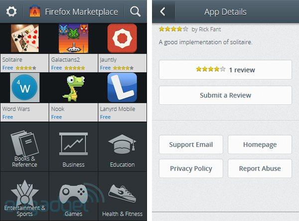 El Marketplace de Firefox OS, al descubierto