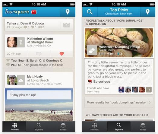 Foursquare actualiza su app para iOS incluyendo soporte para iPhone 5