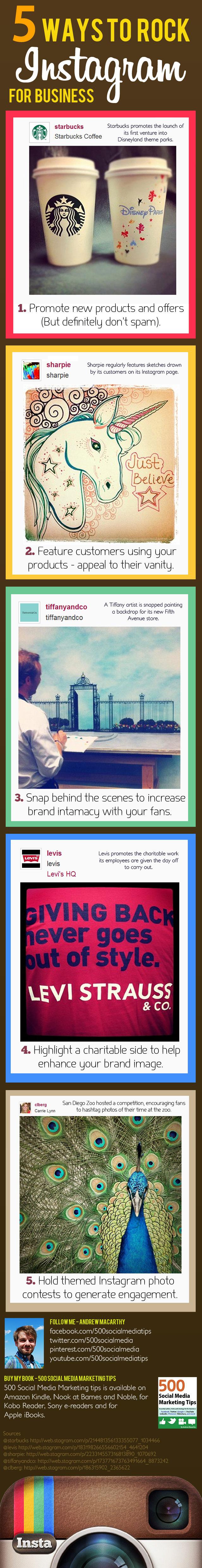 Infografía: 5 formas de utilizar Instagram para nuestro negocio