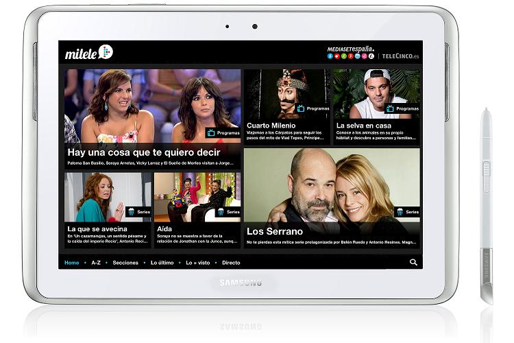 Las series y programas de Mitele llegan a Samsung Apps ...