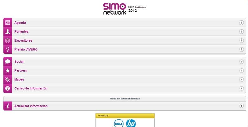 Muévete por SIMO Network 2012 con su app oficial