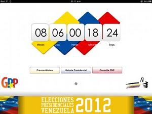 app elecciones venezuela 2012