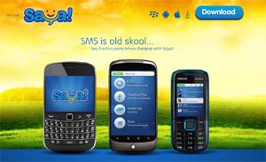 Saya: el 'WhatsApp' para teléfonos no inteligentes