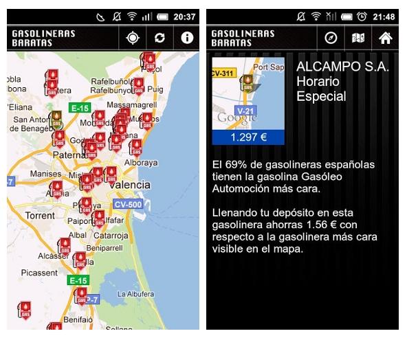 Gasolineras baratas: una app que te ayuda a ahorrar en combustible