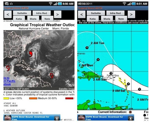 Sigue el recorrido del huracán Sandy con esta app para Android