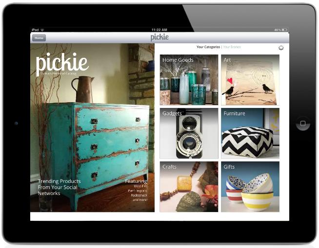 Pickie supone el primer catálogo de compra personalizado para iPad