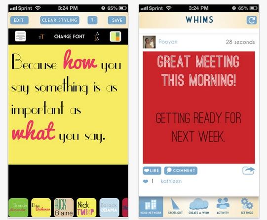 Whims, el Instagram de los pensamientos