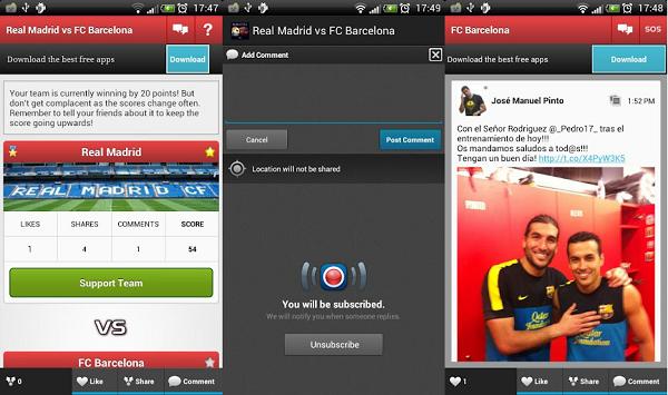 real madrid barcelona app
