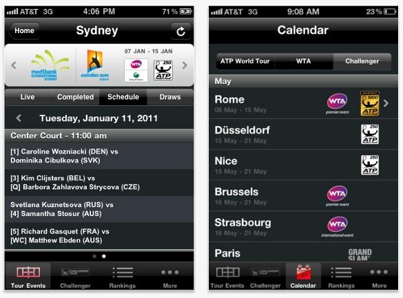 ATP/WTA Live, la app que todo fanático del tenis debería tener