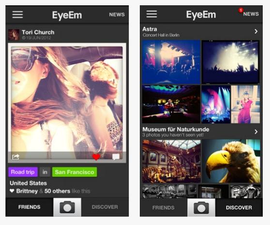 EyeEm, un clon alemán de Instagram que ya ha superado el millón de descargas