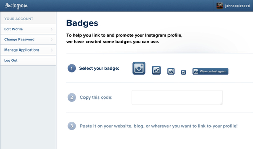 Instagram añade badges a sus perfiles web