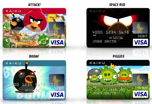 Angry Birds hasta en las tarjetas de débito