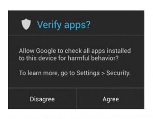 Android 4.2 vendrá con protección para apps con malware
