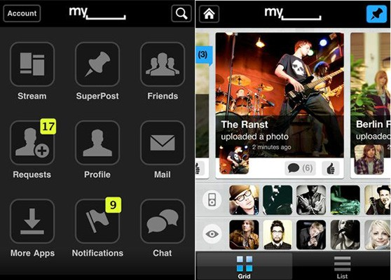 MySpace se une al universo app