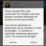 Solo los usuarios de Google+ podrán comentar en Google Play